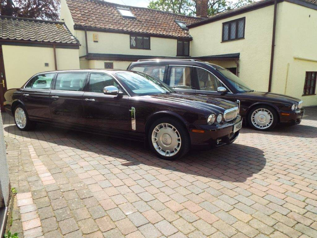 hearse and limo